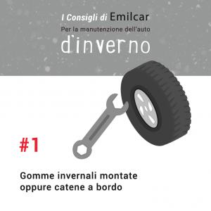 Emilcar blog - consigli manutenzione inverno - gomme invernali