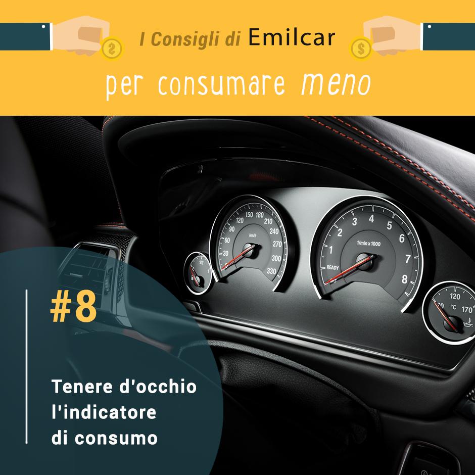 consigli per risparmiare carburante - indicatore di consumo