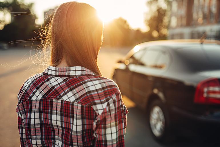 ragazza - paura di guidare